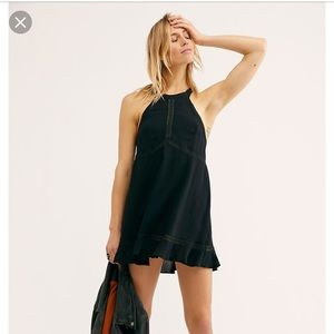 FREE PEOPLE Jasmine Fit & Flare Slip Dress XS